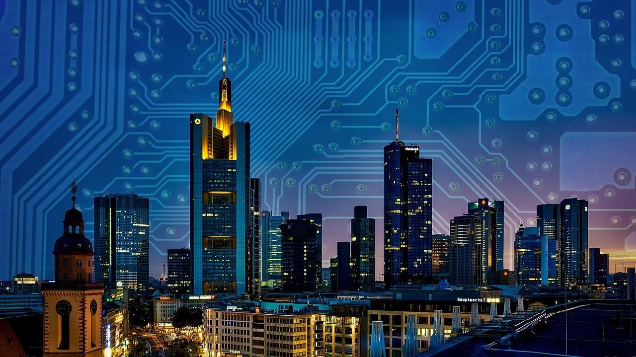 Adeunis ; smart buildings and cities ; skyline